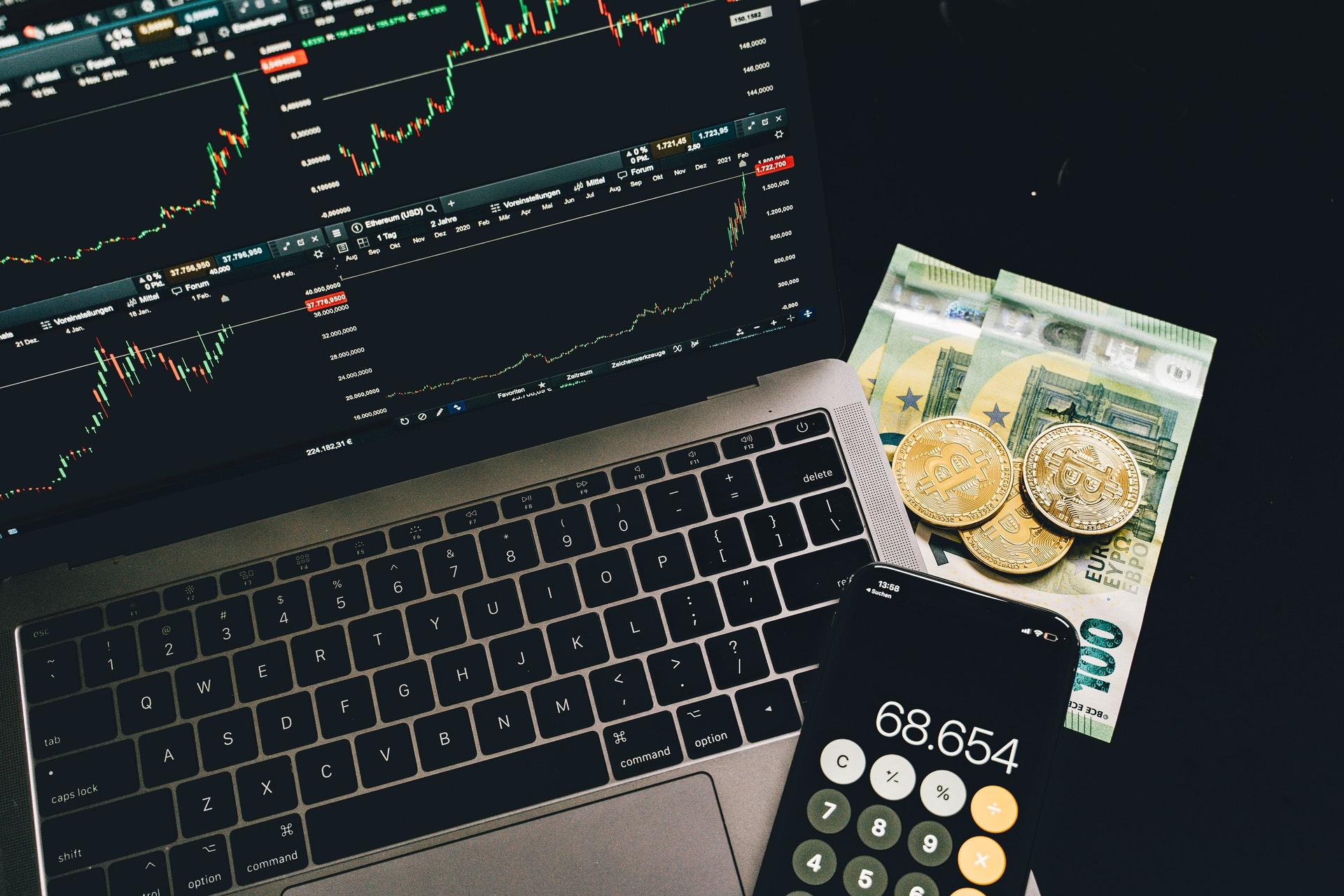 Nieuw handelsplatform van de financiën van het jaar